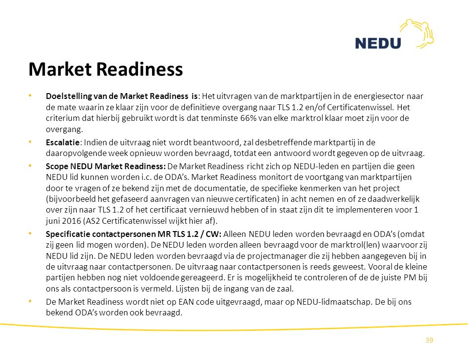 Market Readiness