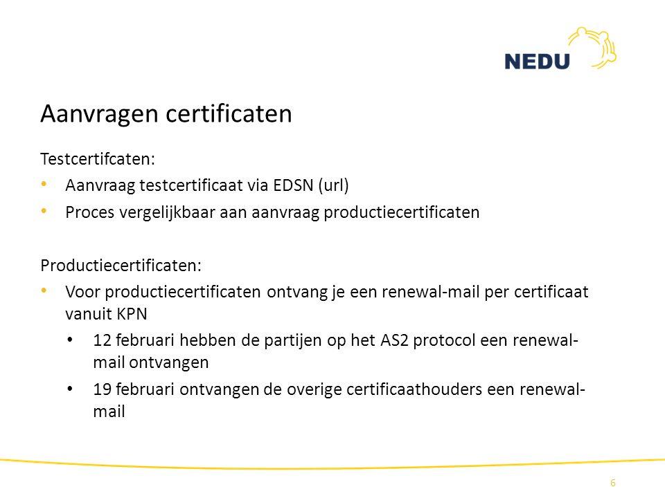 Aanvragen certificaten