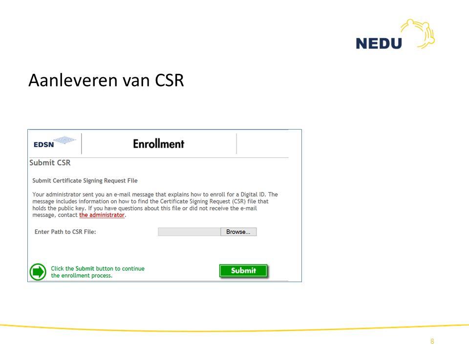 Aanleveren van CSR