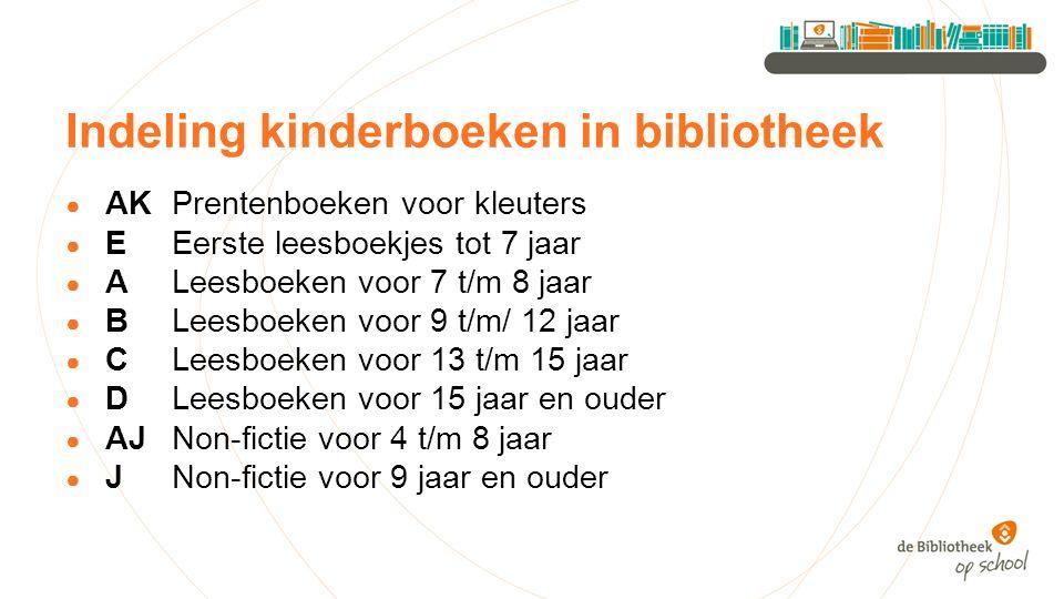 Indeling kinderboeken in bibliotheek