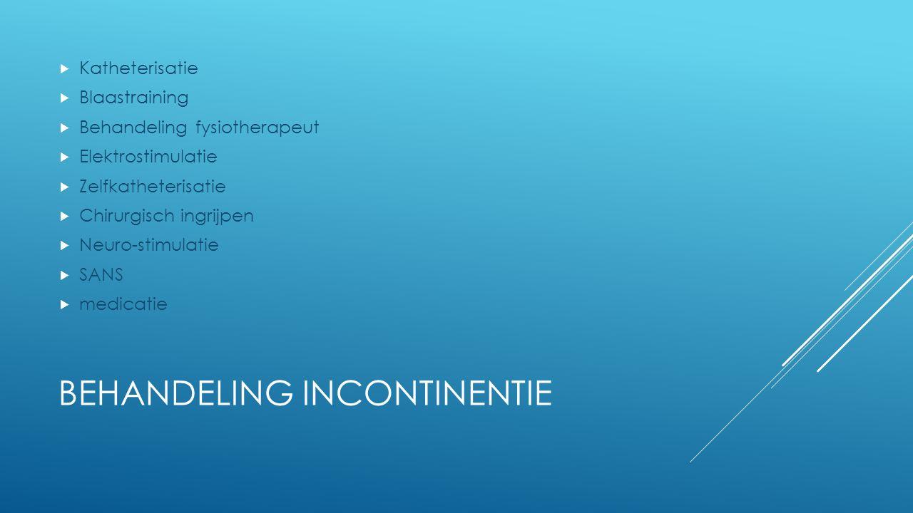 Behandeling incontinentie