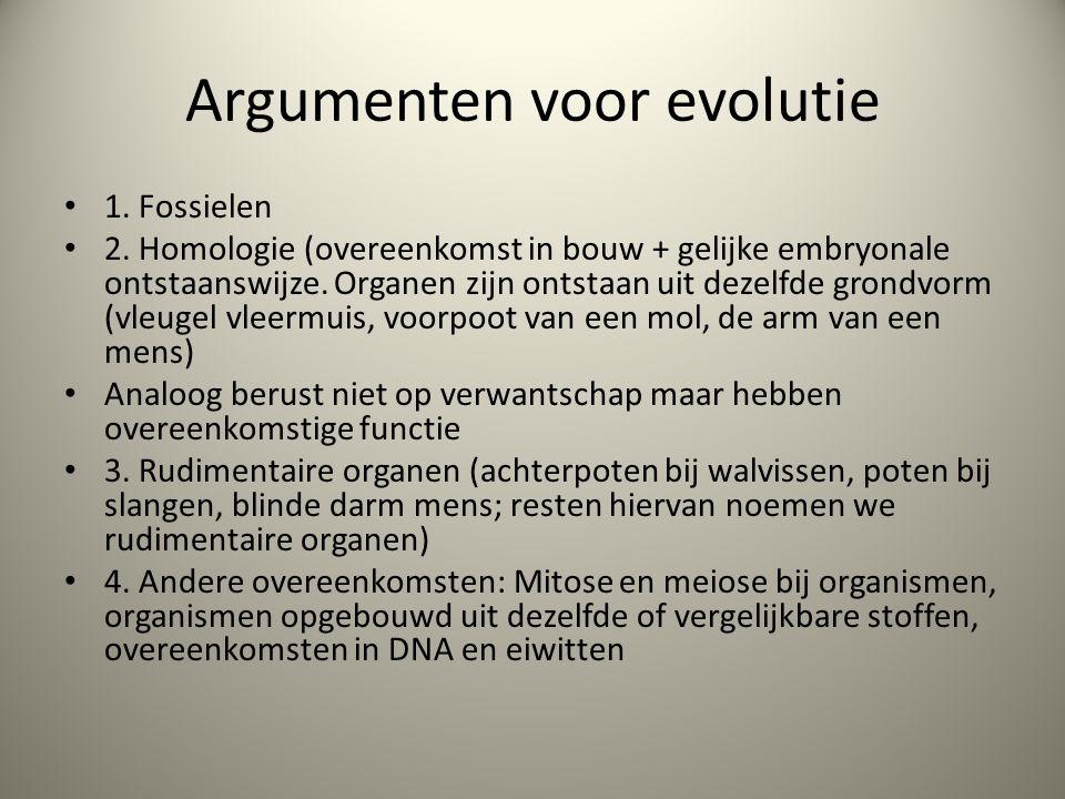 Argumenten voor evolutie