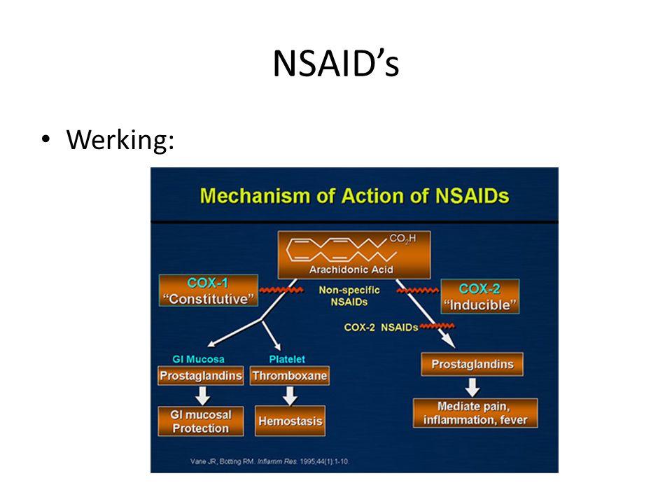 NSAID's Werking: