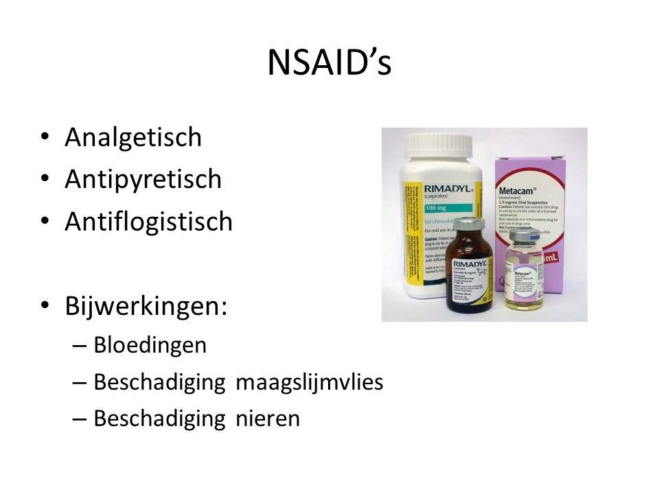 NSAID's Analgetisch Antipyretisch Antiflogistisch Bijwerkingen:
