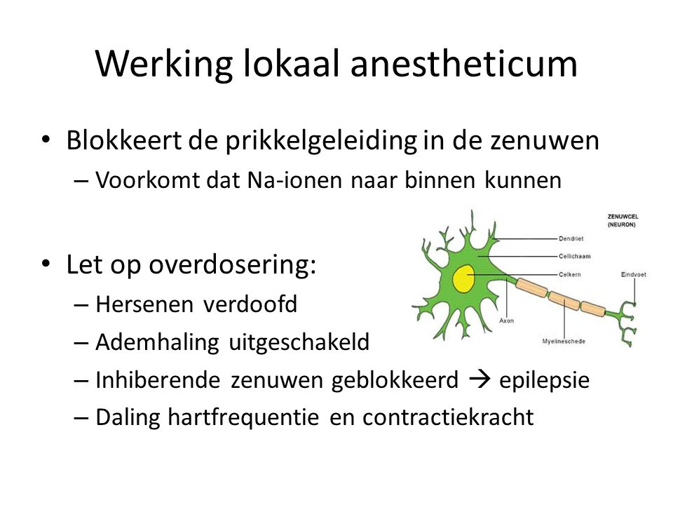 Werking lokaal anestheticum