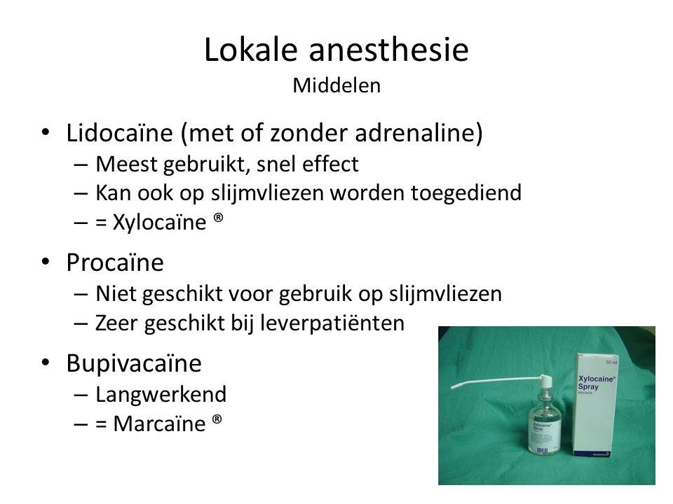 Lokale anesthesie Middelen
