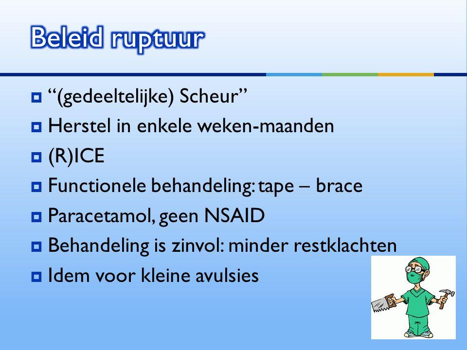 Beleid ruptuur (gedeeltelijke) Scheur