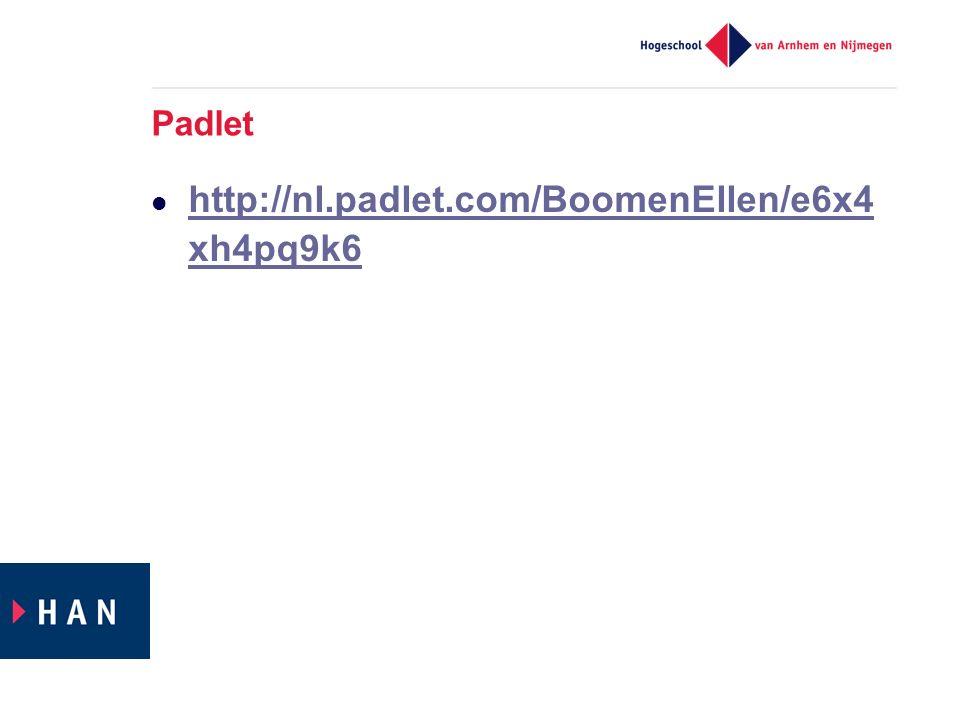 Padlet http://nl.padlet.com/BoomenEllen/e6x4xh4pq9k6