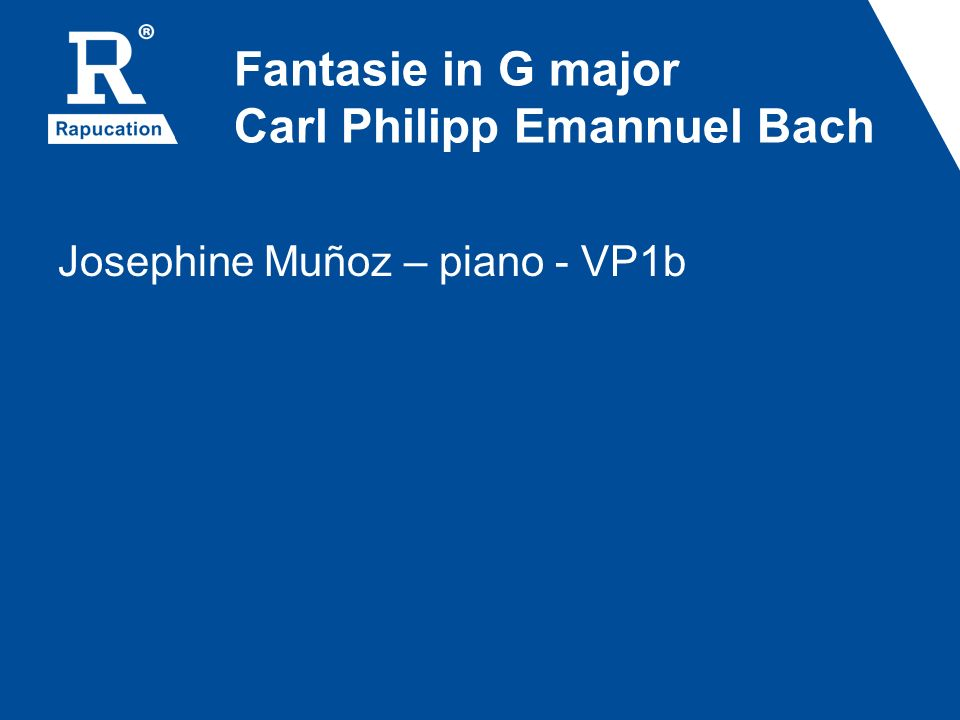 Fantasie in G major Carl Philipp Emannuel Bach