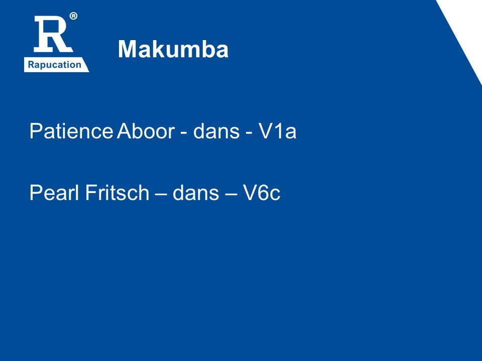 Makumba Patience Aboor - dans - V1a Pearl Fritsch – dans – V6c