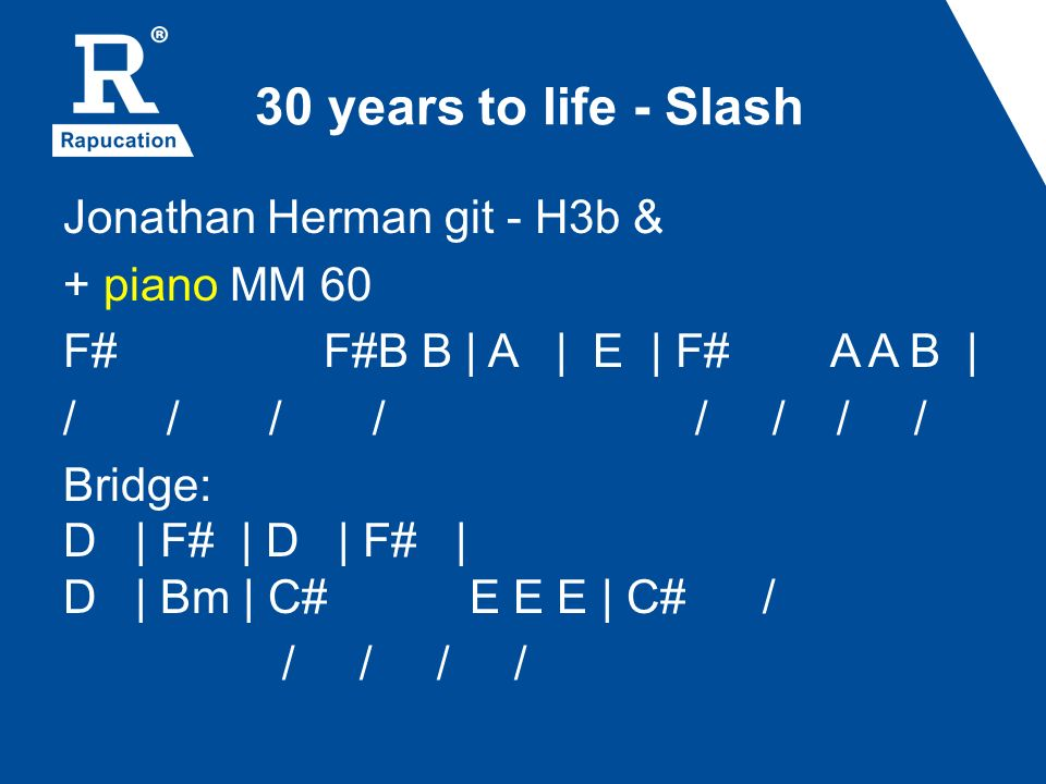 30 years to life - Slash
