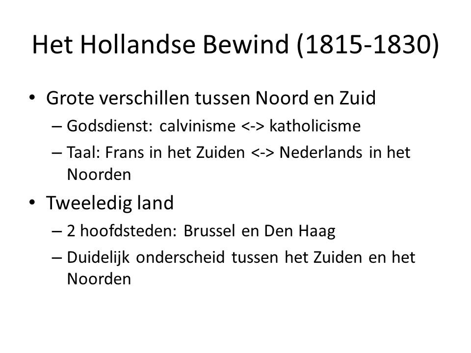 Het Hollandse Bewind (1815-1830)