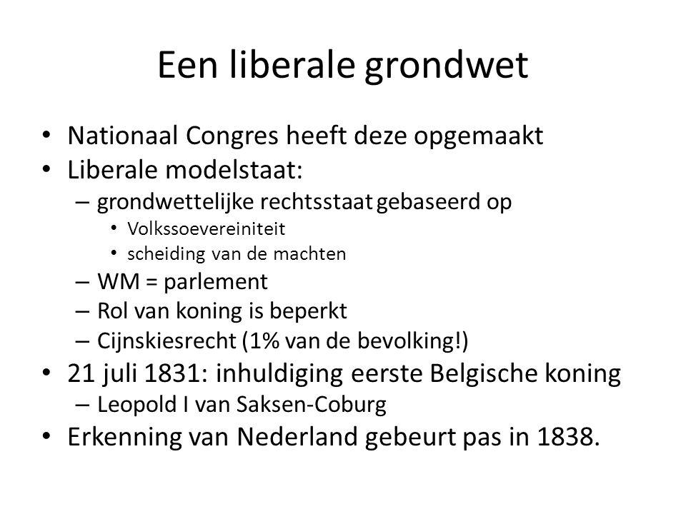 Een liberale grondwet Nationaal Congres heeft deze opgemaakt
