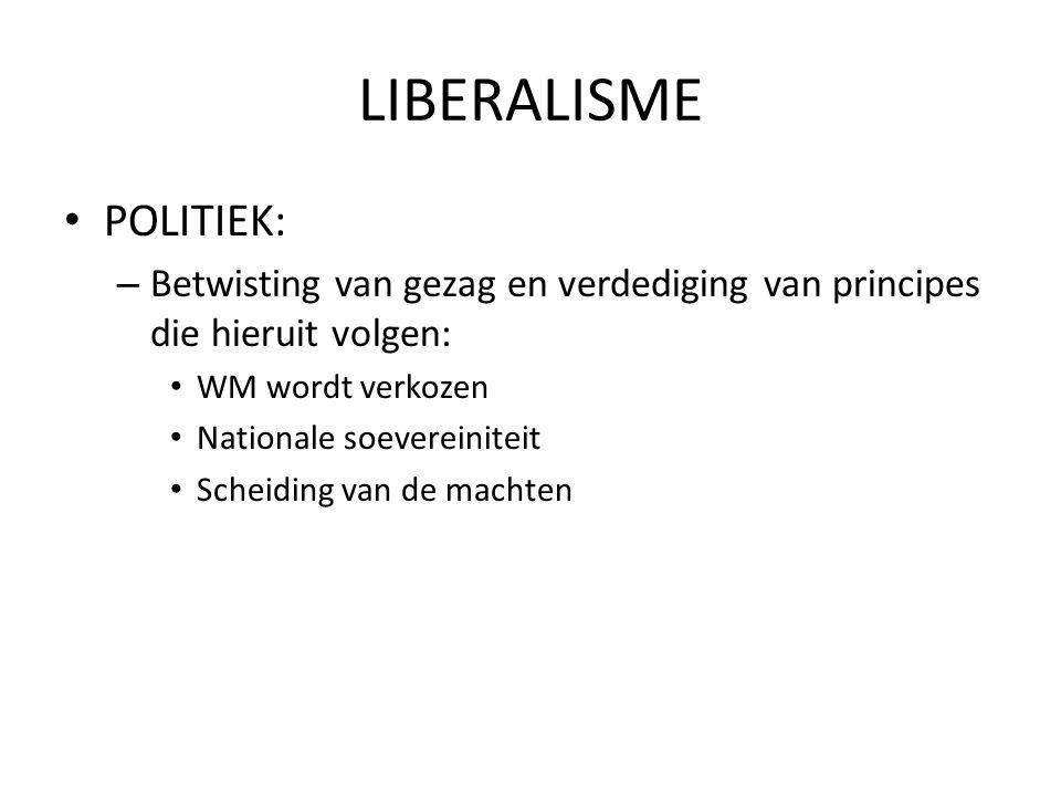 LIBERALISME POLITIEK: