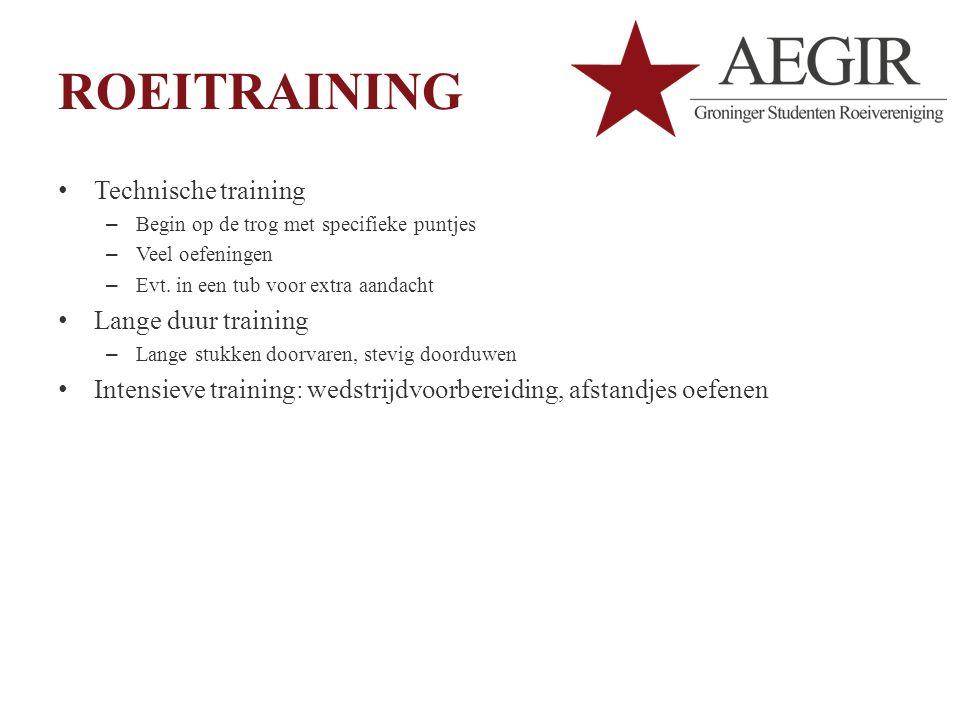 ROEITRAINING Technische training Lange duur training
