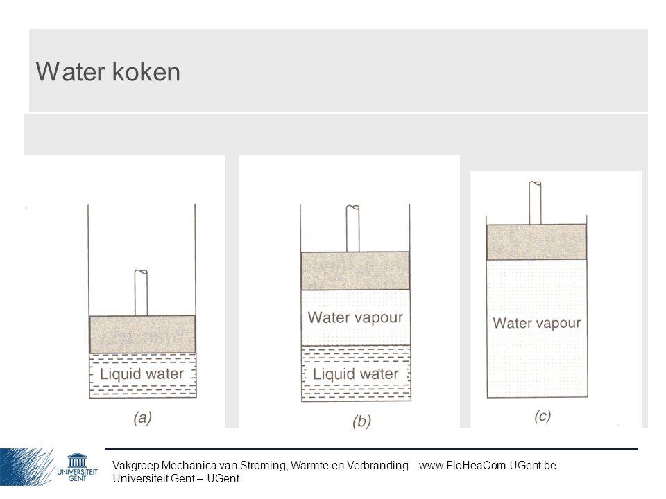 Water koken Vakgroep Mechanica van Stroming, Warmte en Verbranding – www.FloHeaCom.UGent.be.