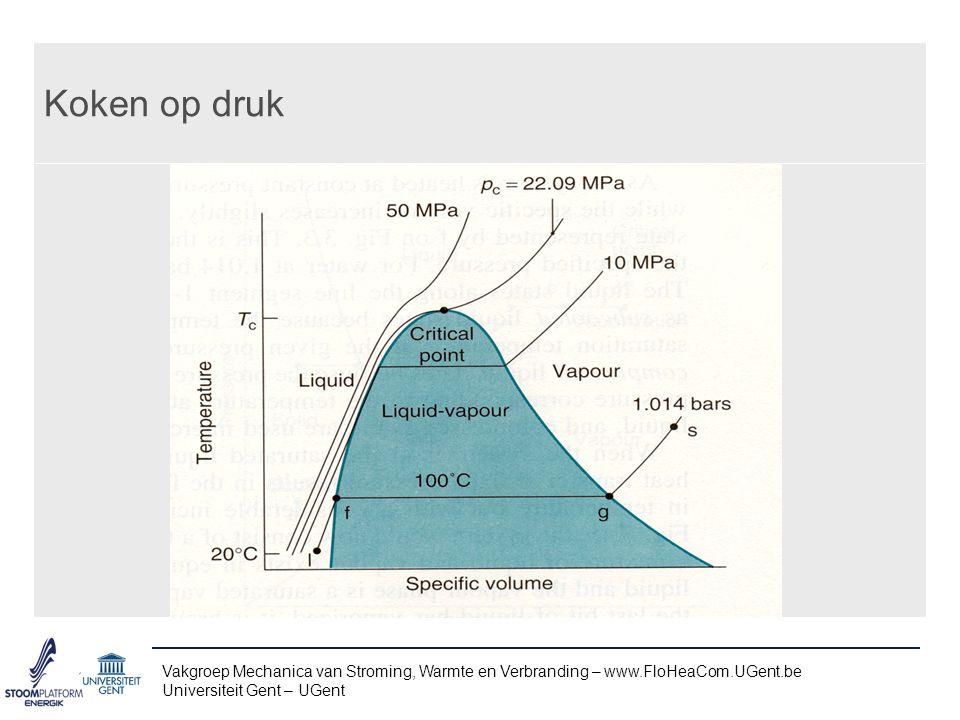 Koken op druk Vakgroep Mechanica van Stroming, Warmte en Verbranding – www.FloHeaCom.UGent.be.
