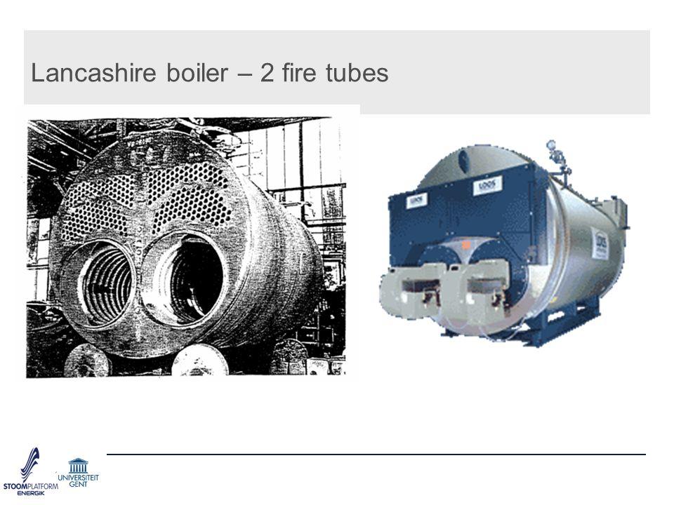 Lancashire boiler – 2 fire tubes