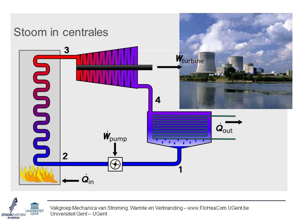 Stoom in centrales Vakgroep Mechanica van Stroming, Warmte en Verbranding – www.FloHeaCom.UGent.be.