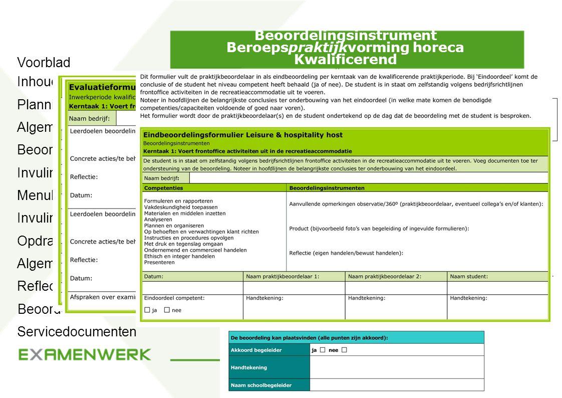 Beoordelingsinstrument Beroepspraktijkvorming horeca Kwalificerend