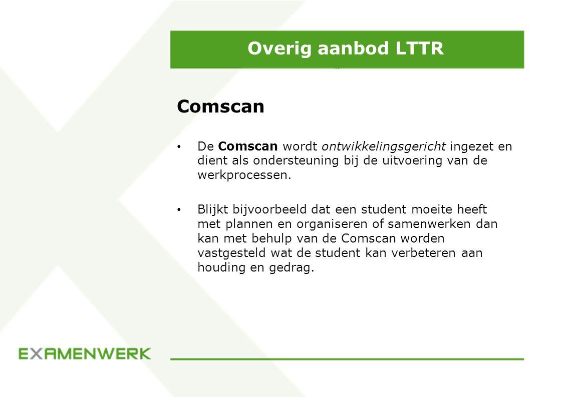 Overig aanbod LTTR Comscan