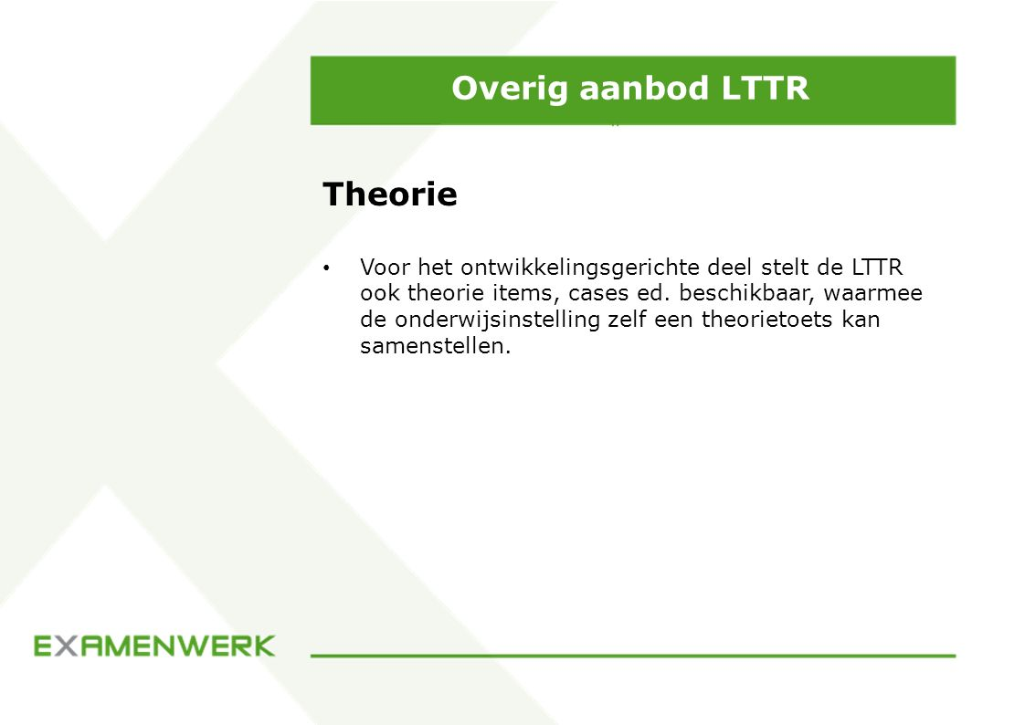 Overig aanbod LTTR Theorie