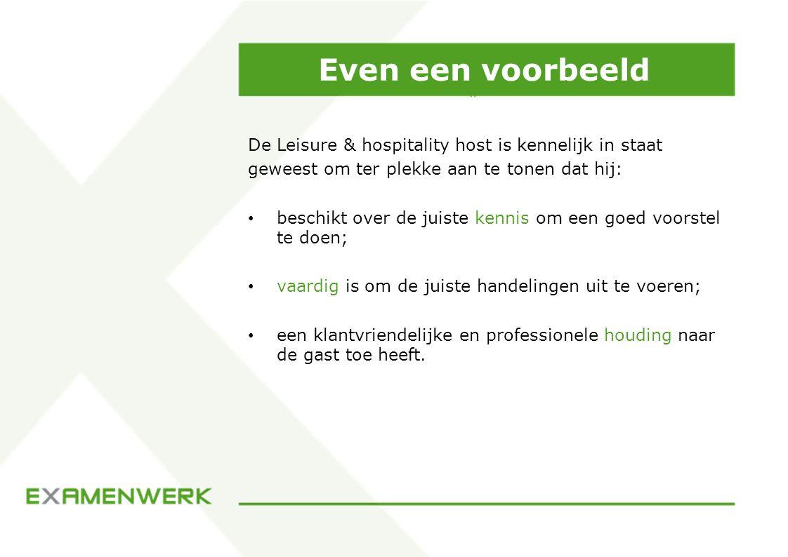 Even een voorbeeld De Leisure & hospitality host is kennelijk in staat