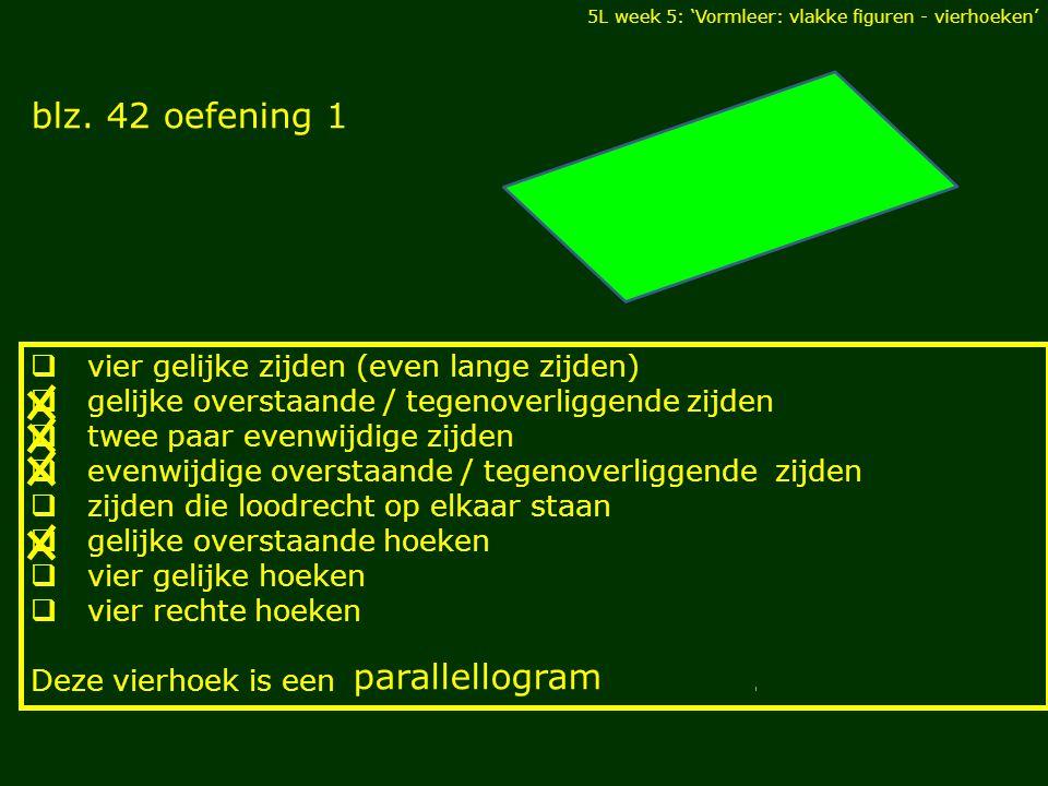 blz. 42 oefening 1 parallellogram