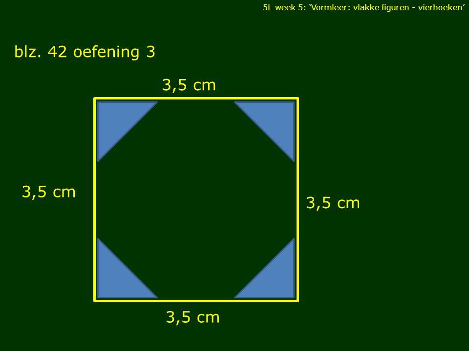 blz. 42 oefening 3 3,5 cm 3,5 cm 3,5 cm 3,5 cm DIAGONALEN