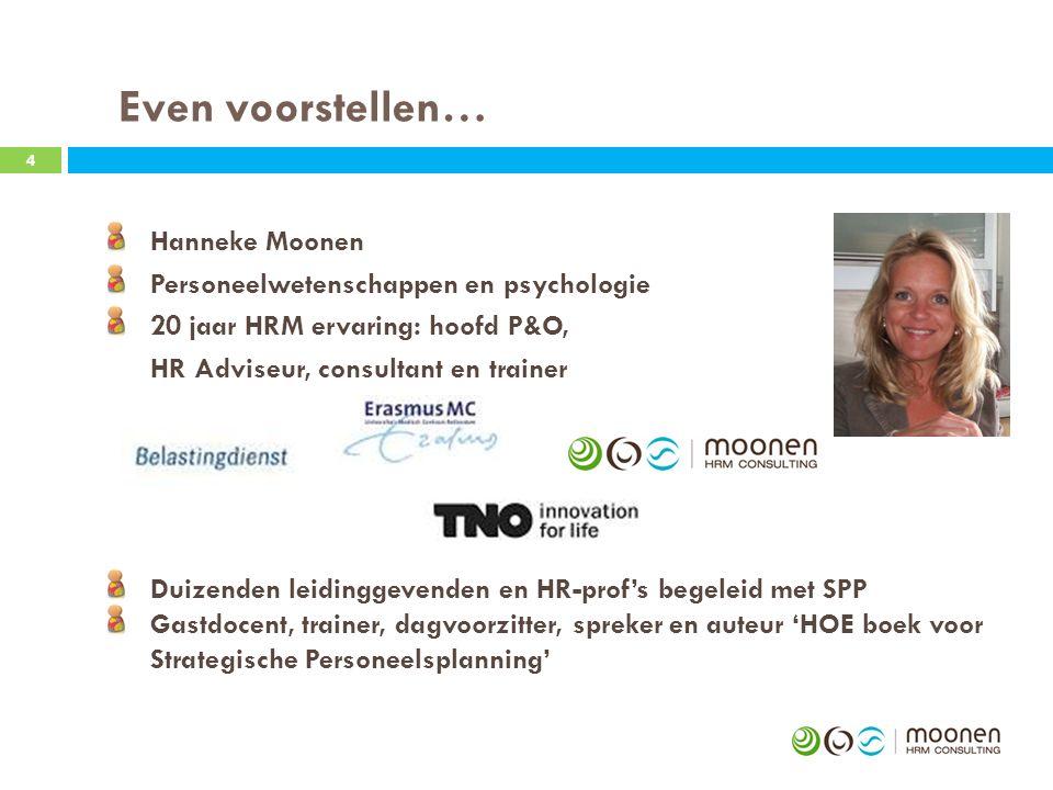 Even voorstellen… Hanneke Moonen Personeelwetenschappen en psychologie
