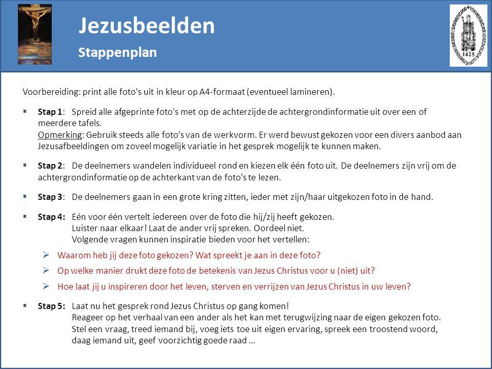 Jezusbeelden Stappenplan