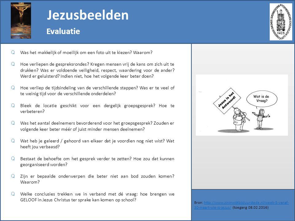 Jezusbeelden Evaluatie