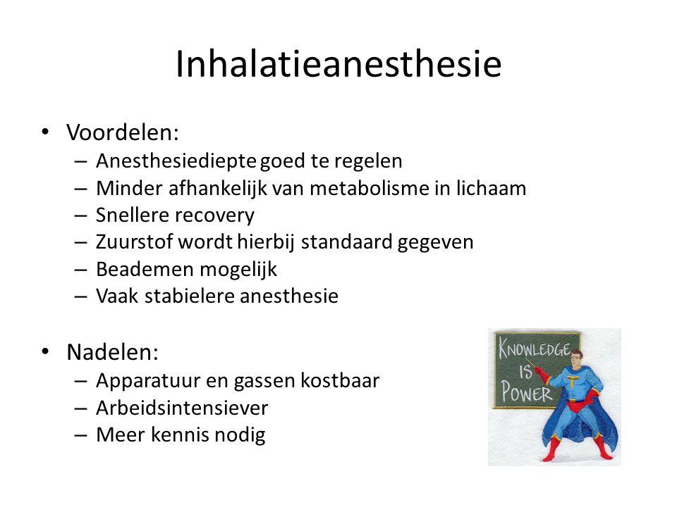 Inhalatieanesthesie Voordelen: Nadelen: