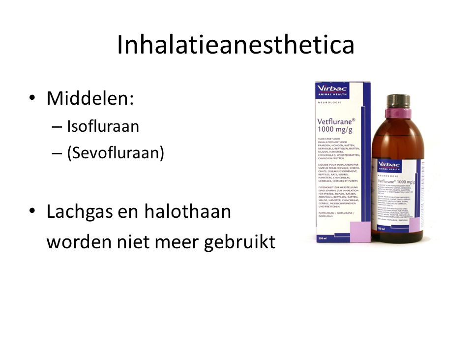 Inhalatieanesthetica