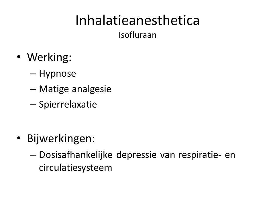 Inhalatieanesthetica Isofluraan