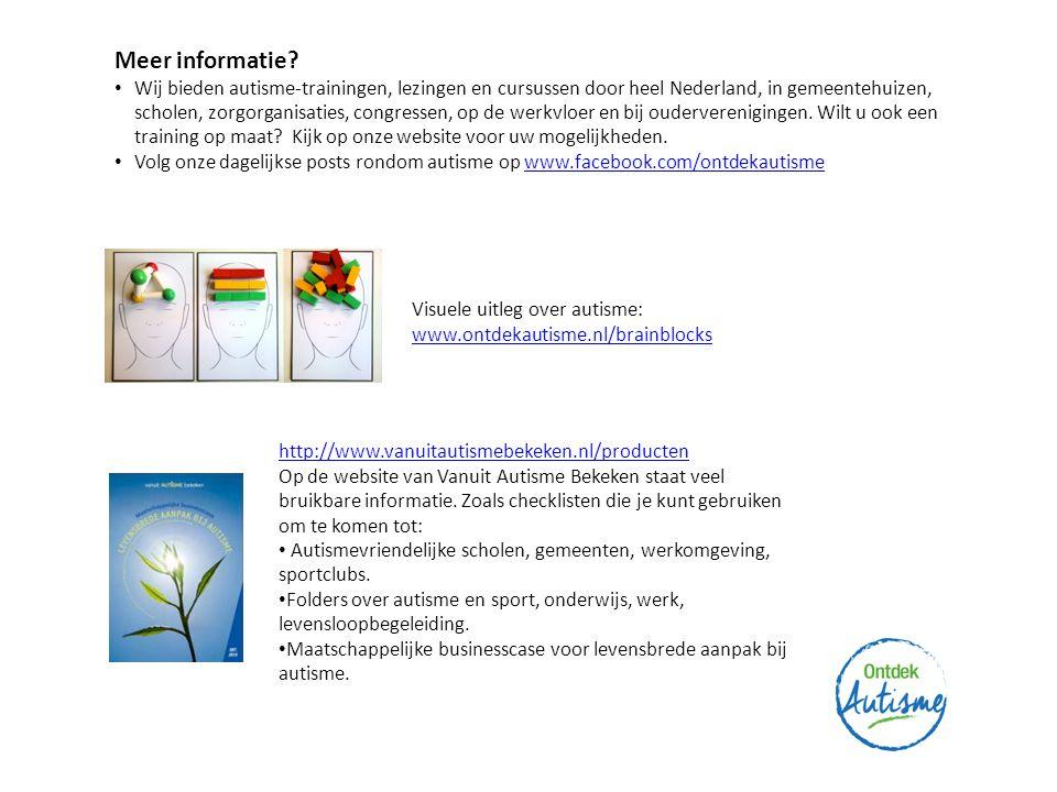 Meer informatie Visuele uitleg over autisme: