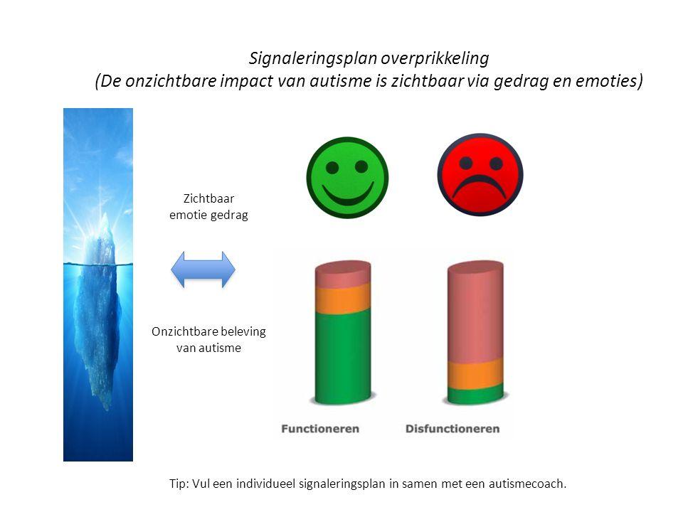 Signaleringsplan overprikkeling (De onzichtbare impact van autisme is zichtbaar via gedrag en emoties)