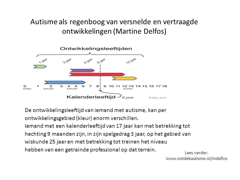 Autisme als regenboog van versnelde en vertraagde ontwikkelingen (Martine Delfos)