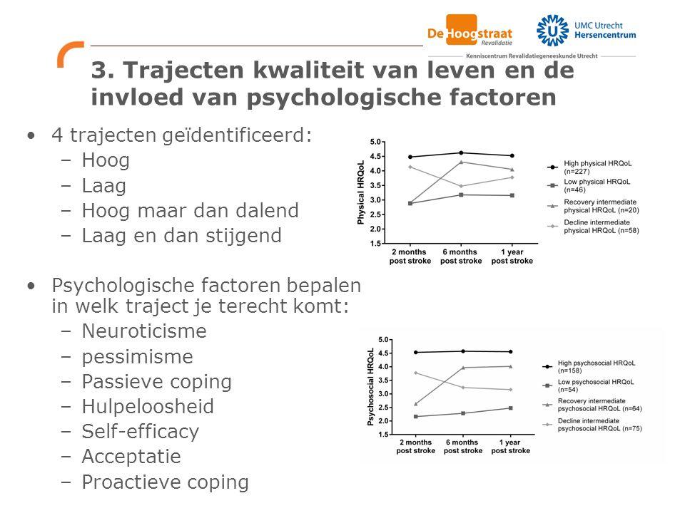 3. Trajecten kwaliteit van leven en de invloed van psychologische factoren