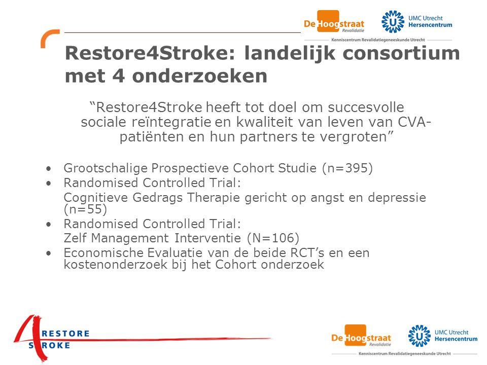 Restore4Stroke: landelijk consortium met 4 onderzoeken