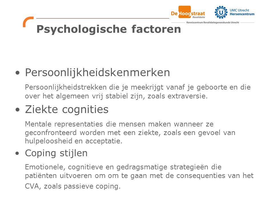 Psychologische factoren