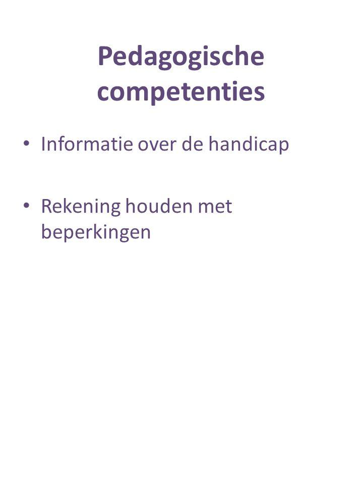 Pedagogische competenties