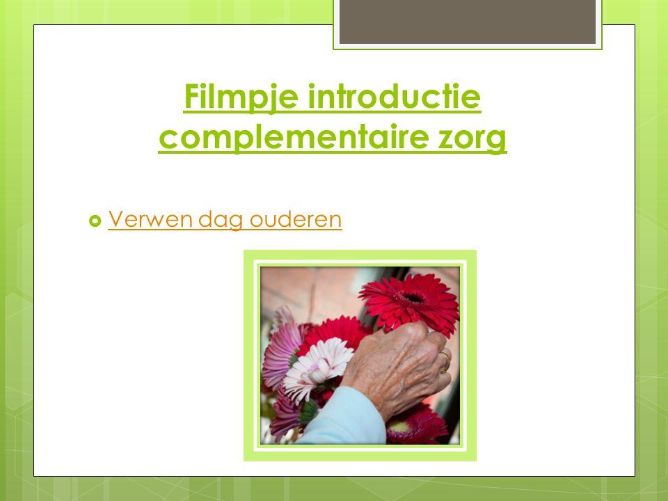 Filmpje introductie complementaire zorg