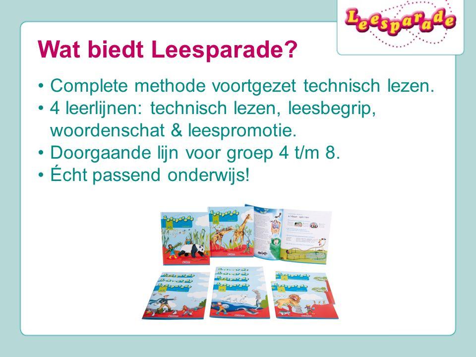 Wat biedt Leesparade Complete methode voortgezet technisch lezen.