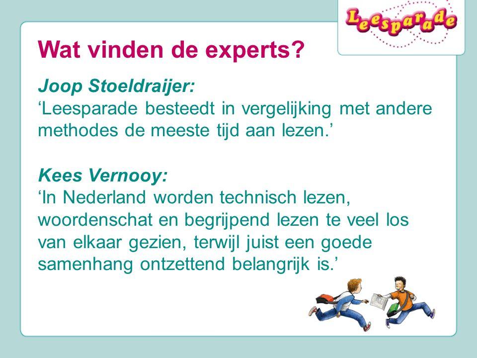 Wat vinden de experts Joop Stoeldraijer: