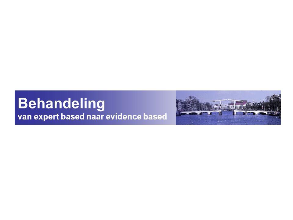 Behandeling van expert based naar evidence based