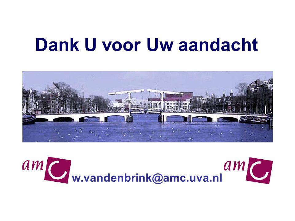 Dank U voor Uw aandacht w.vandenbrink@amc.uva.nl