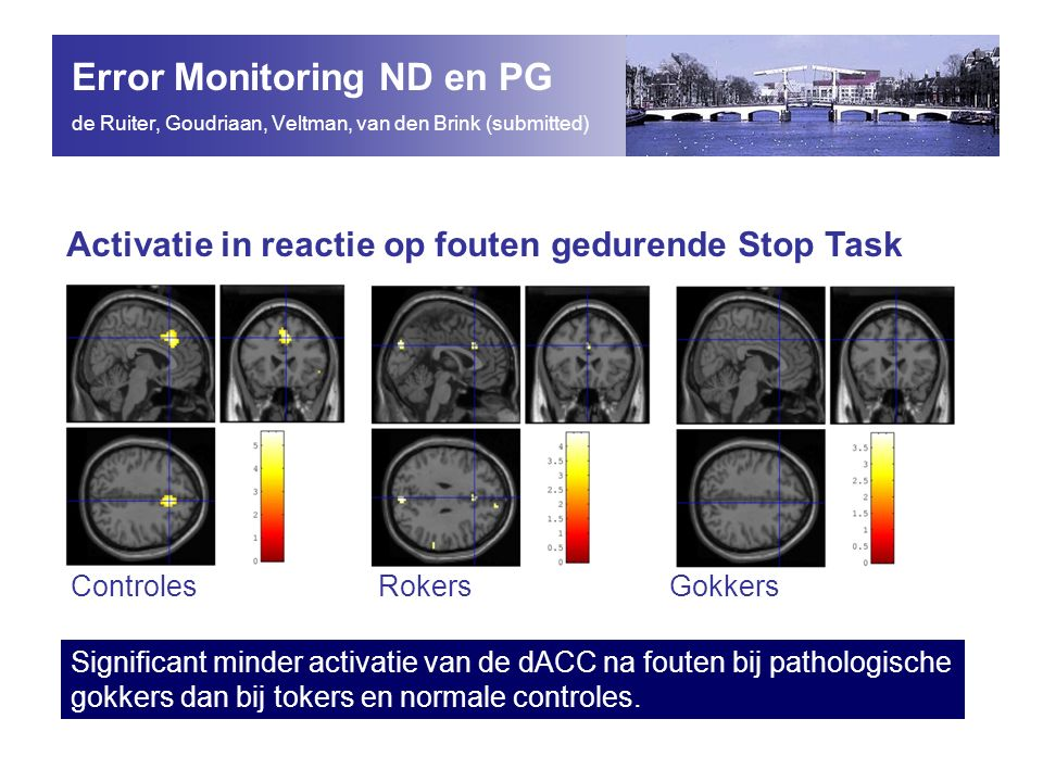 Error Monitoring ND en PG de Ruiter, Goudriaan, Veltman, van den Brink (submitted)