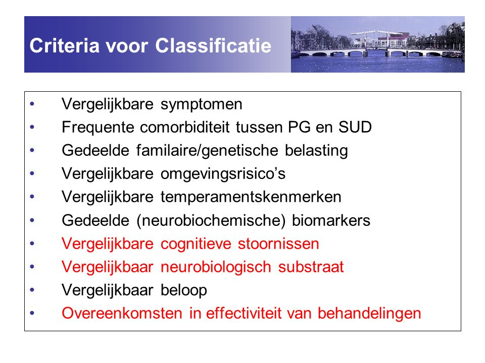 Criteria voor Classificatie