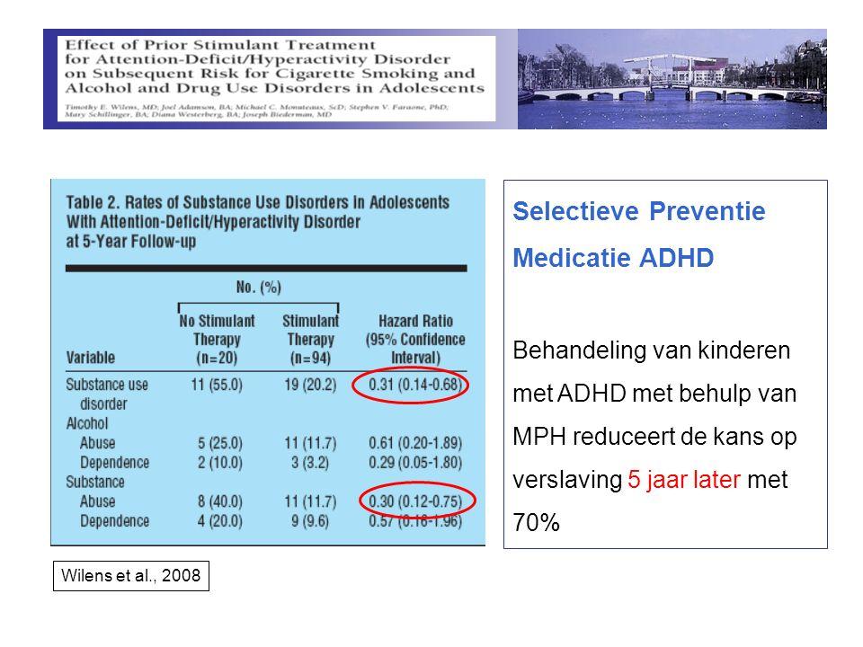 Selectieve Preventie Medicatie ADHD